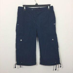 Jones New York Signature Size 4 Capri Cargo Pants